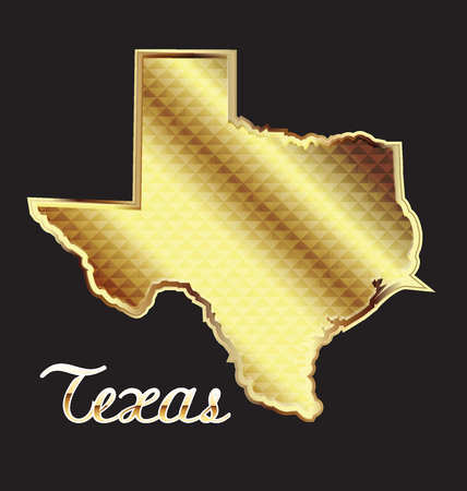 texas state: Gold texas state map