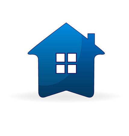 townhouses: Blue house real estate