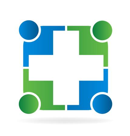 Teamwork unity help concept  vector