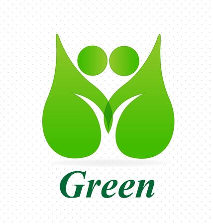 Ecology go green leafs