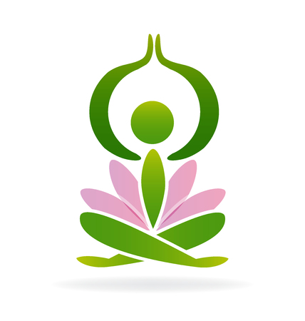 Yoga lotus man vector image