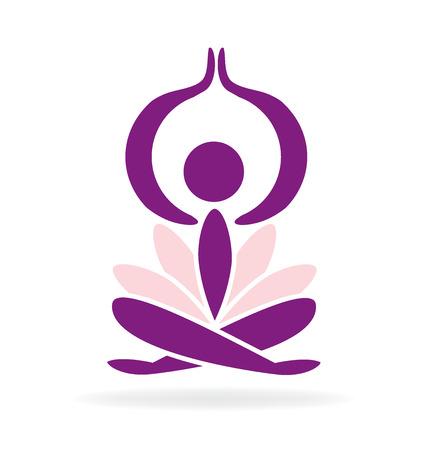 nirvana: Yoga lotus man vector image Illustration
