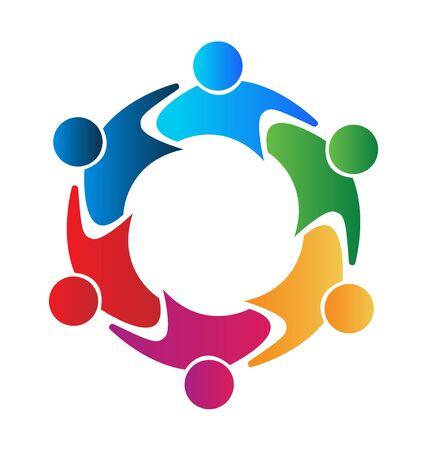 together voluntary: Teamwork union concept vector Illustration