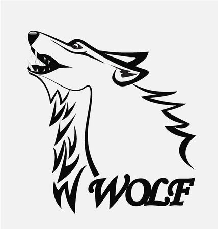 marioneta: imagen de la silueta del vector del lobo