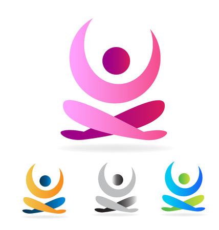 Yoga man vector  イラスト・ベクター素材