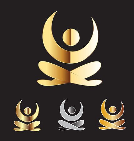 Gold yoga man