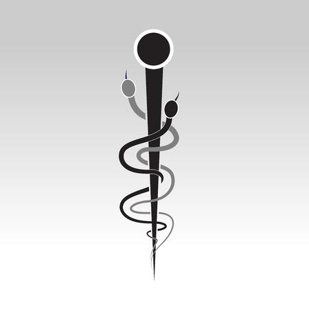 acupuntura china: logo símbolo médico