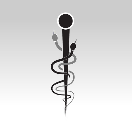 esculapio: logo s�mbolo m�dico