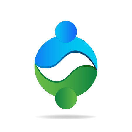 logo handshake: Handshake people .Can represent global trade business market logo concept vector icon