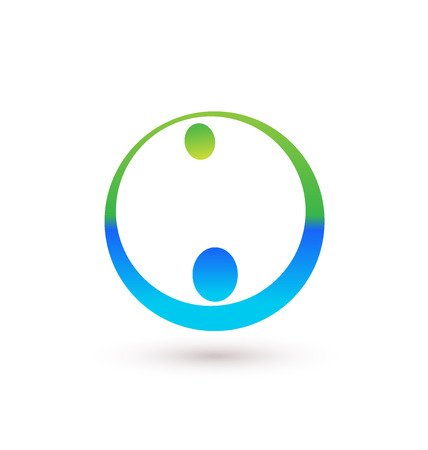 vector image: Handshake icon logo vector image Illustration