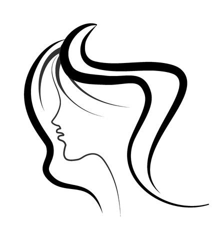 Schoonheid van de vrouw gezicht vector Vector Illustratie