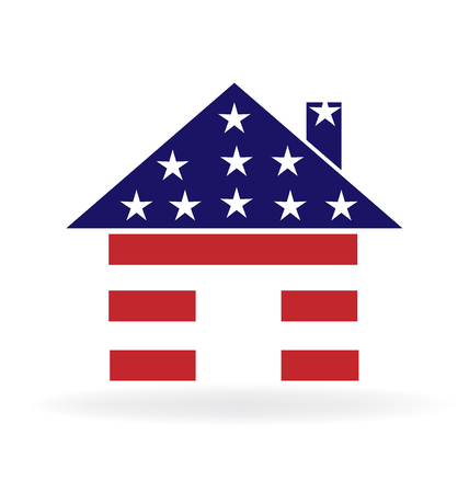 apartment: House USA flag