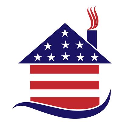 Patriotic house Ilustração