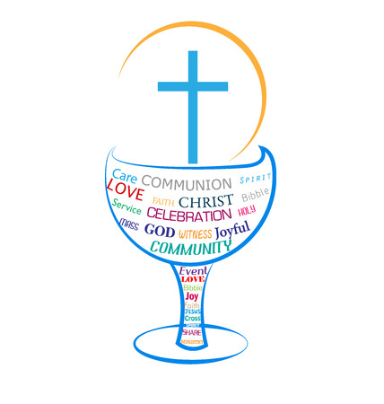 theology: Eucharist Holy Communion symbol Illustration