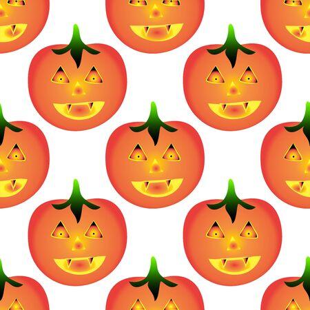 free stock photos: Pumpkin pattern background Illustration