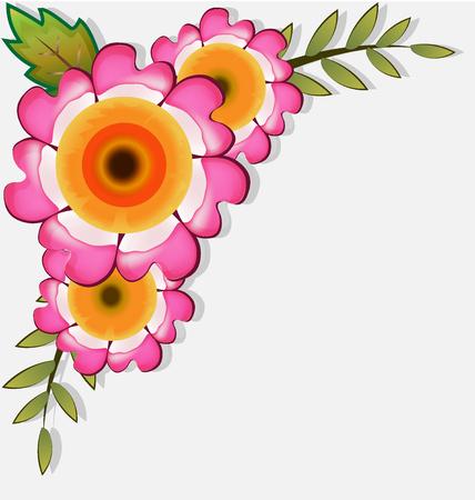 Floral corner frame