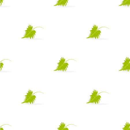 greem: Grapevine leafs pattern Illustration