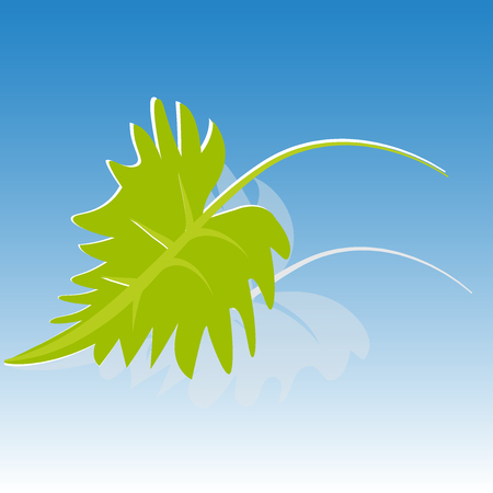 icono de hoja verde de fondo