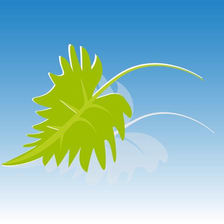 Green leaf icon background Illustration