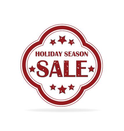Big sale stamp label. Holidays season sales icon vector Illustration