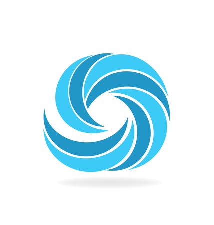 Blue beach waves icon vector graphic design Illustration