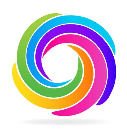 スパイラル波アイコン デザイン id ビジネス カード  イラスト・ベクター素材