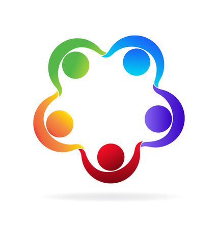 Teamwork party people icon vector image