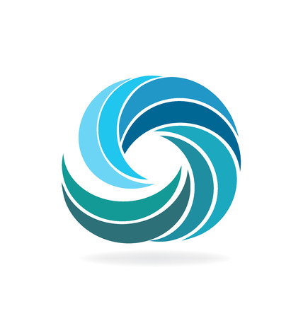 Waves beach tropical template icon background vector image