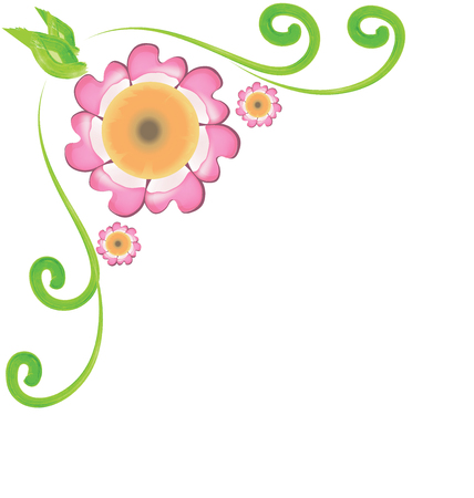 Flowers corner frame design