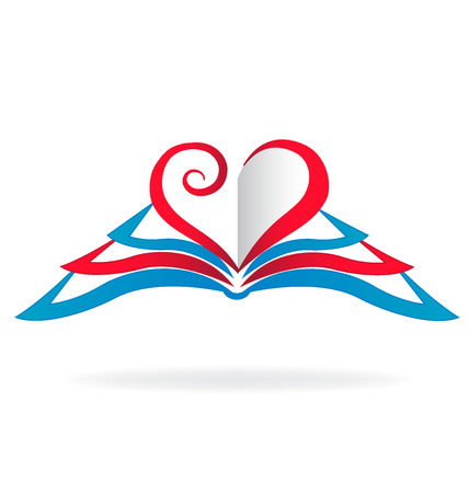 love image: I love read books icon vector image Illustration