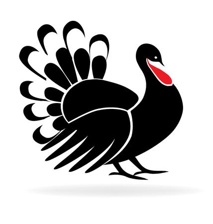 Happy Thanksgiving Turquie Symbole vacances modèle icône