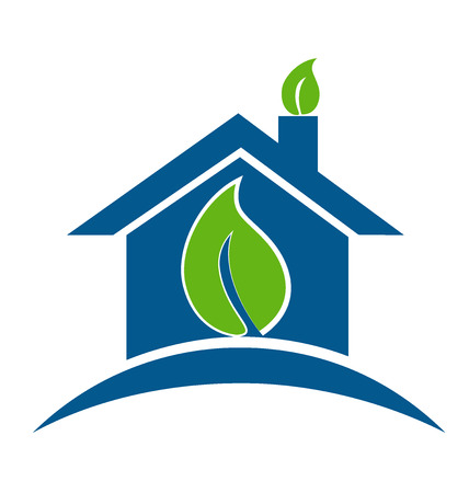 industrial drawing: House environment concept icon vector design
