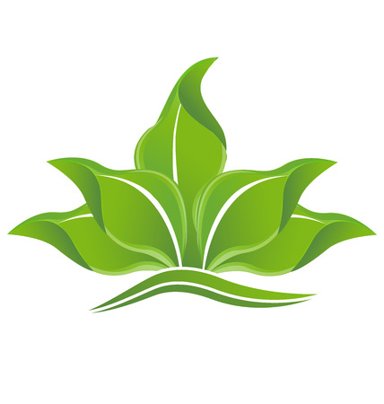 olimpic: Green leafs plant ecology concept vector image Illustration