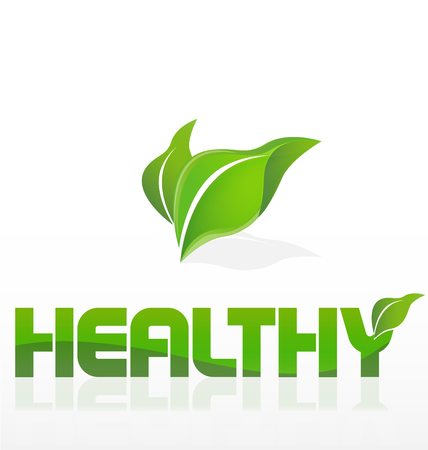 olimpic: Healthy  nature leafs icon identity card