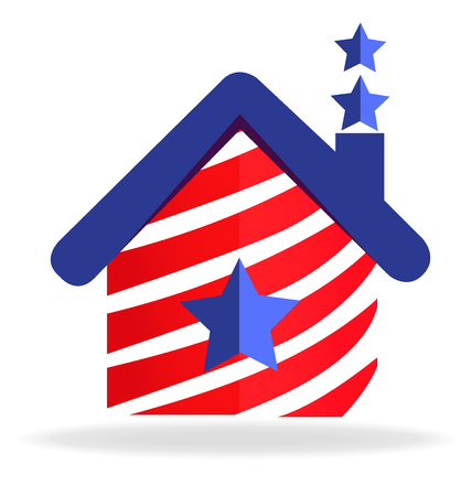 national identity: American house icon
