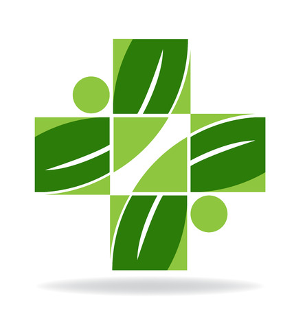 alternative health: Team helping people. Alternative health solution icon vector