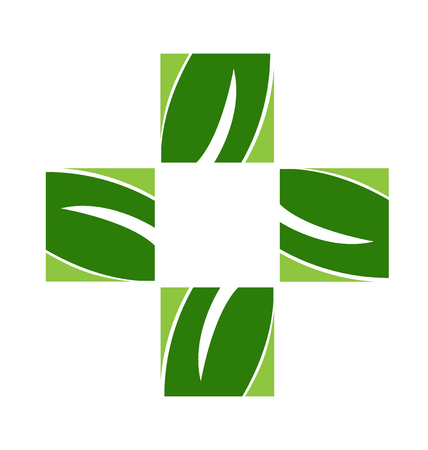 Alternative health medicine symbol vector design