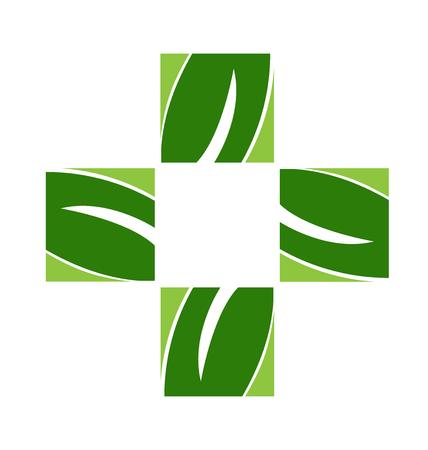 Alternative health medicine symbol vector design