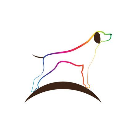 Dog colored silhouette