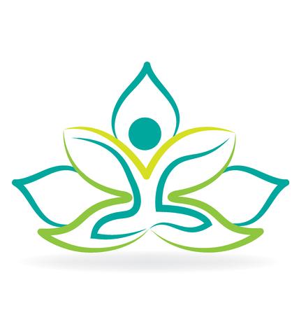 Hombre de la yoga de loto vector de la silueta del diseño gráfico de la imagen