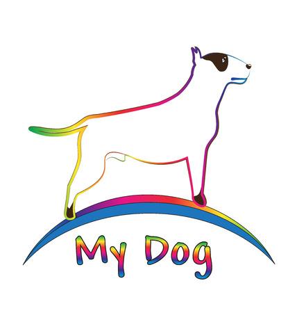 Perro colorido pit-bull