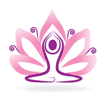Lotus flower meditation yoga Illustration