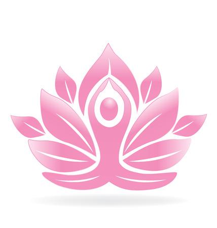 profusion: Lotus flower yoga man
