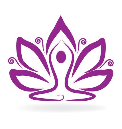 Flor de loto de yoga Foto de archivo - 65295979
