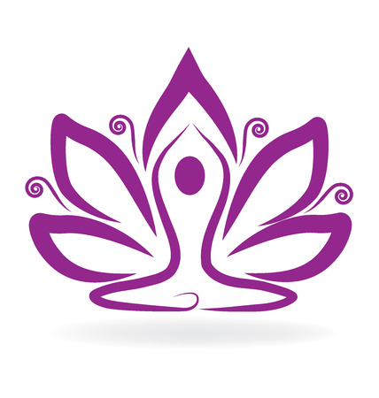 meditation man: Lotus flower yoga