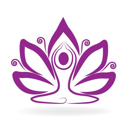 massage symbol: Lotus purple flower yoga