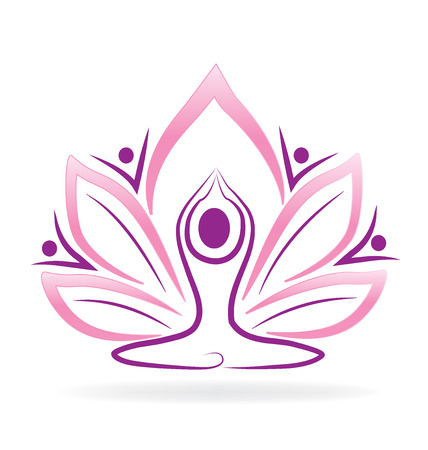 Lotus flor hombre de yoga