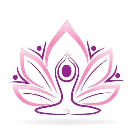 Lotus flower yoga man