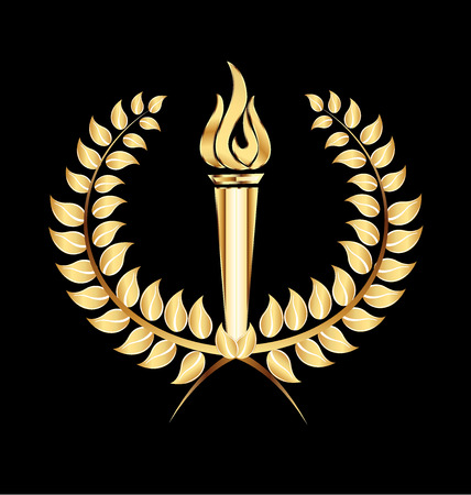 heroic: torch flame laurel icon