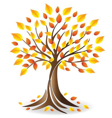 Ecology fall tree  vector Illustration